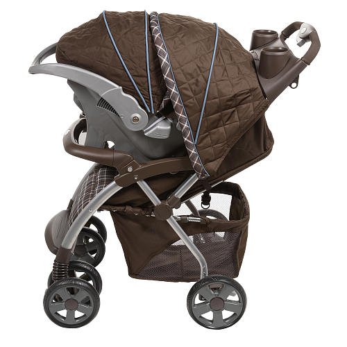 The Eddie Bauer Adventurer Sport Travel System Stroller In Charter Atlantic Blue Fashion From Focuses On Warm Brown Plaid And